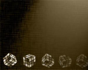 Plantilla PowerPoint de Cubo Rubik e Inteligencia Gratis