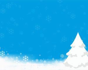 Blanca Navidad Plantilla PPT PPT Template