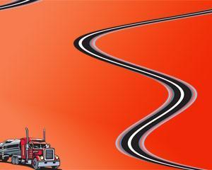 plantilla powerpoint de camion en ruta
