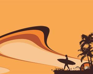 Plantilla PowerPoint de Surf Gratis PPT Template