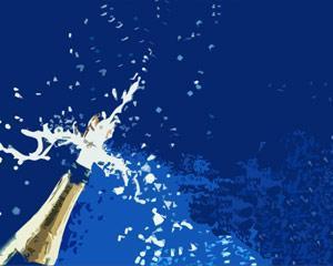 Plantilla PowerPoint de Champagne para Celebración PPT Template