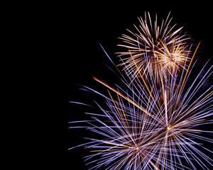 Plantilla PowerPoint de Fuegos Artificiales para Celebración PPT Template