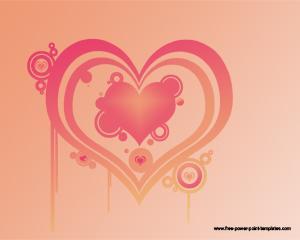 Diseño de Diapositiva de Corazón para Presentaciones de Amor PPT Template