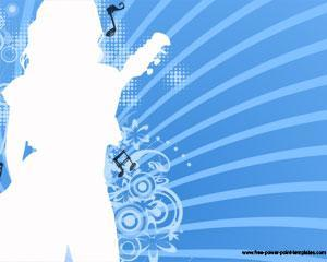 Plantilla PowerPoint de Música con Silueta de Mujer PPT Template