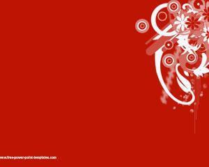 Plantilla PowerPoint con Fondo Rojo PPT Template