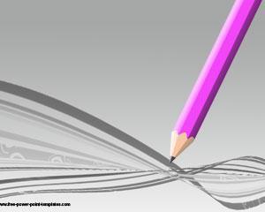 Plantilla PowerPoint de Lápiz para Educación