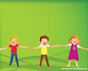 Niños Plantillas Powerpoint PPT Template