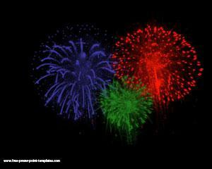 Fuegos artificiales Powerpoint PPT Template