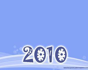Plantilla PowerPoint de Feliz Año 2010