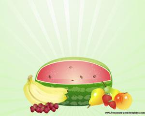 Frutas Plantilla Powerpoint