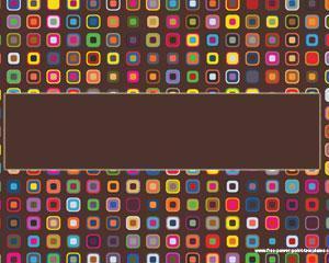 Cuadrados Coloridos Plantillas Powerpoint PPT Template