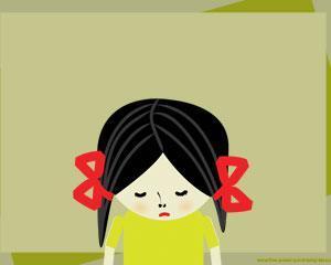 Plantilla de Depresión con Niña Triste en el diseño de la Diapositiva de PowerPoint