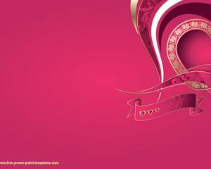 Fucsia background PPT Template