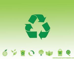 Reciclaje Verde Plantilla Powerpoint PPT Template