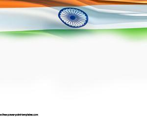 Bandera de la India PPT Plantilla PowerPoint PPT Template