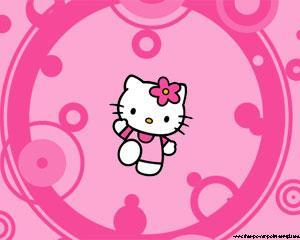 Hello Kitty Pink Background PPT