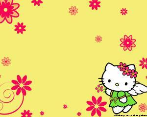 Hello Kitty 1 Powerpoint PPT Template