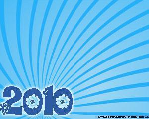 Año Nuevo 2010 Plantilla Powerpoint PPT Template