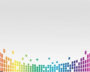 Colorful Equalizer Powerpoint Template
