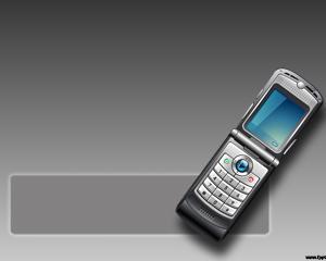 Cellphone Power Point Template