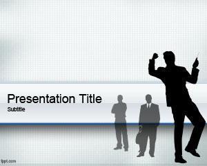 Plantilla PowerPoint con Personas de Negocio PPT Template